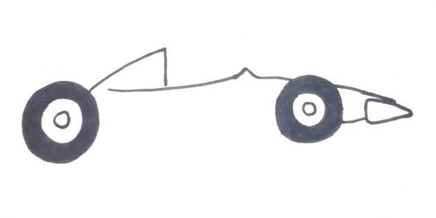 Как нарисовать гоночную машину: добавьте второе колесо