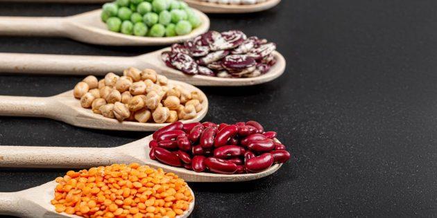 В каких продуктах много железа: бобовые