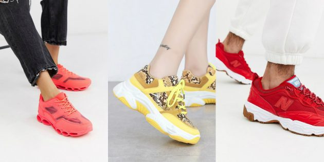 Модные кроссовки — 2020: кроссовки ярких солнечных оттенков