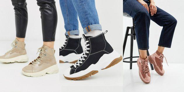 Модные высокие кроссовки