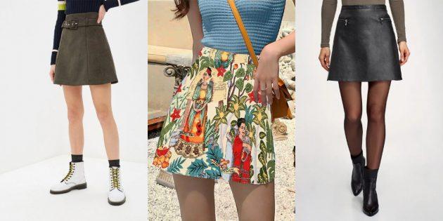 Модные юбки А-образного силуэта