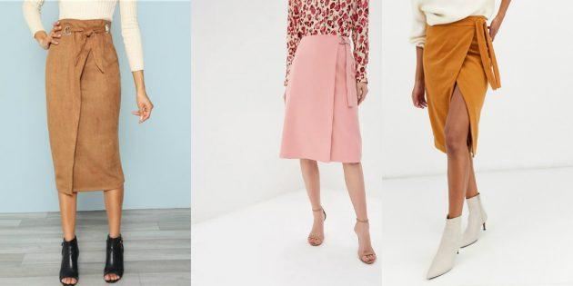 Модные юбки с запахом