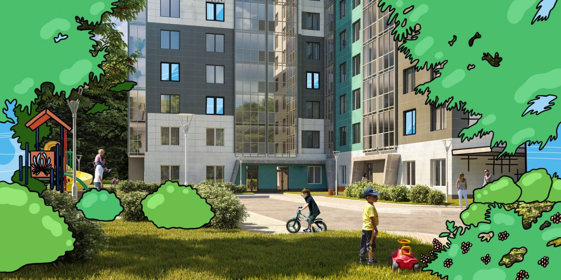Безопасный двор и парк для прогулок: как устроен микрорайон, в котором приятно жить