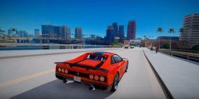 Видео дня: ремастер легендарной ViceCity на движке GTA V