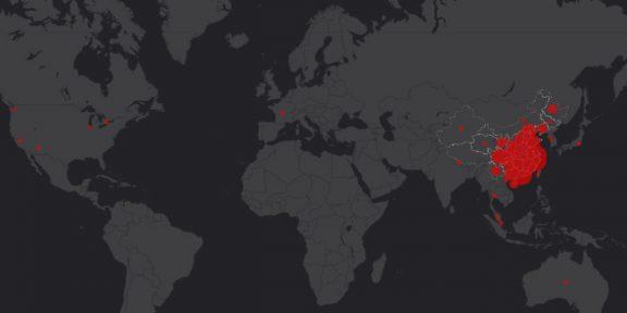 Создана онлайн-карта распространения китайского коронавируса по миру