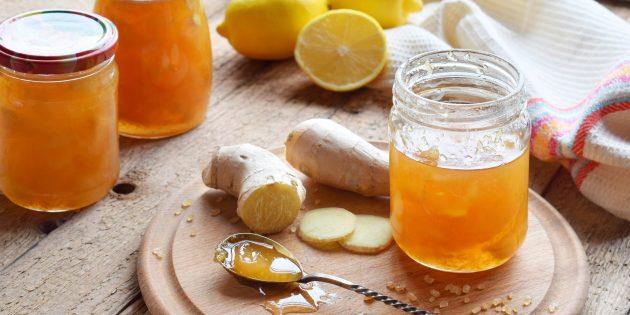 Лимонный джем с имбирём