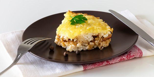 Рисовая запеканка с мясным фаршем: простой рецепт