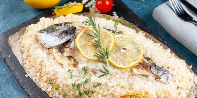 Рецепт рыбы в духовке: дорадо в соли
