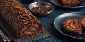 10 лучших рецептов бисквитных рулетов, перед которыми сложно устоять
