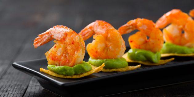 Вкусные закуски на праздничный стол: Креветки по-мексикански