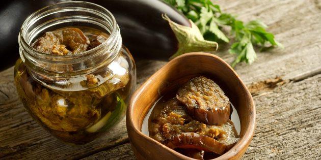 Салат из баклажанов на зиму с хреном и перцем