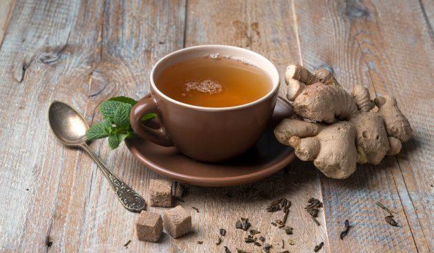Чай с имбирём, кардамоном и куркумой