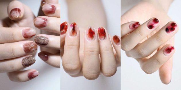 Яркий дизайн ногтей: акварельные мотивы