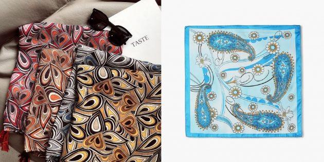 Недорогие подарки на 8 Марта: платок
