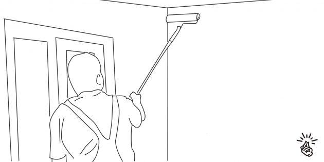 Как красить стены: нанесите грунтовку