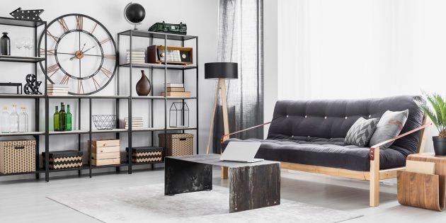 Стильное оформление интерьера: металлический декор