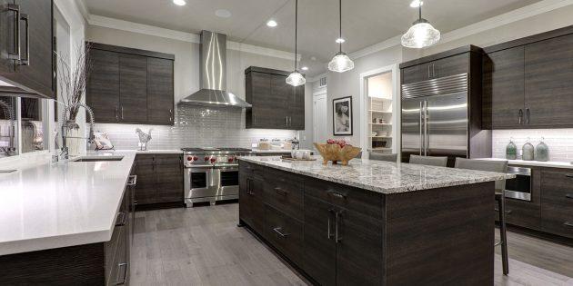 Стильный интерьер: закрытая кухня