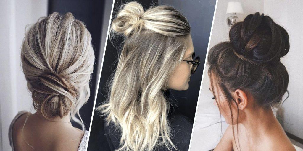 Небрежный пучок (32 фото): как сделать на голове современный небрежный пучок? Варианты прически на средние, длинные и короткие волосы