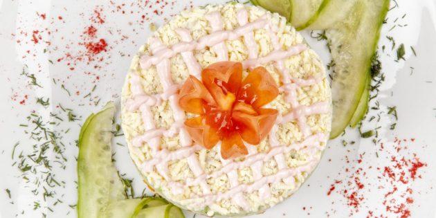 Салат «Невеста» без мяса и рыбы