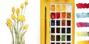 15 способов нарисовать красивые тюльпаны