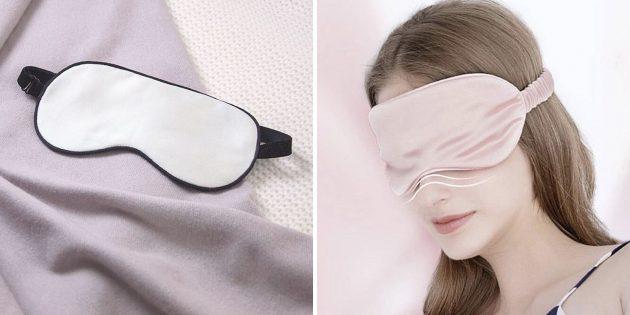 Что подарить подруге на день рождения: шёлковая маска для сна