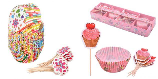 Что подарить подруге на день рождения: набор бумажных формочек для кексов