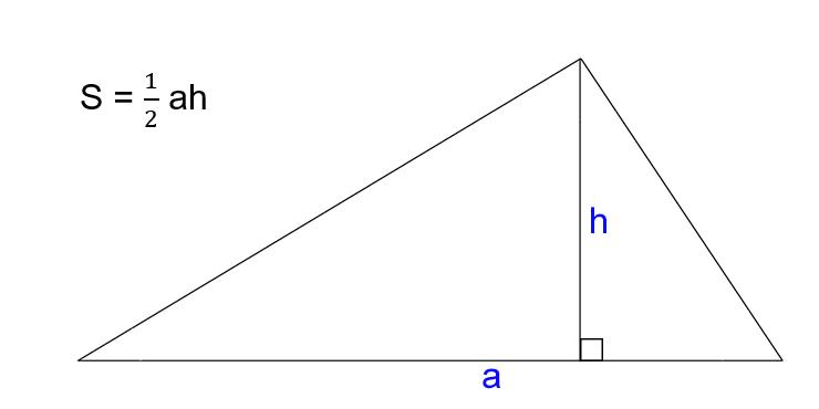 Как найти площадь треугольника, зная сторону и высоту