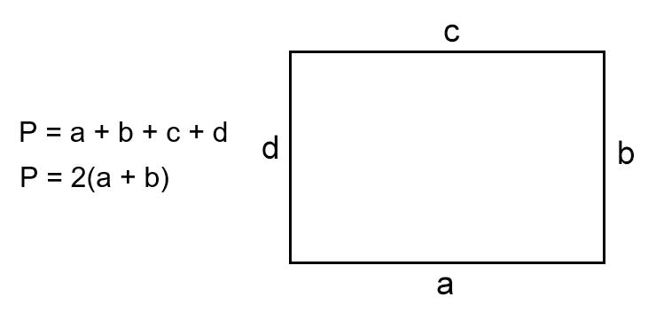 Как найти периметр прямоугольника, зная все или две соседние стороны