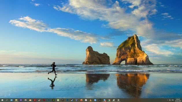 Как сделать скриншот на Windows 10: Win + PrtSc
