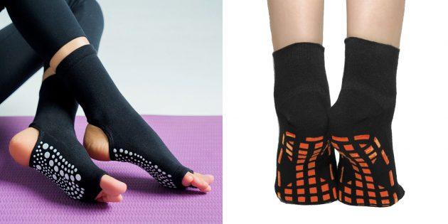 Подарок для подруги на день рождения: носки для гимнастики и пилатеса
