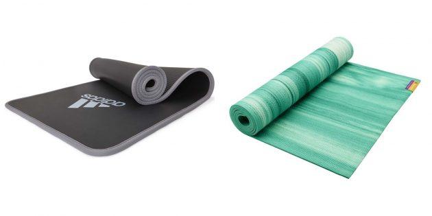 Подарок для подруги на день рождения: коврик для йоги