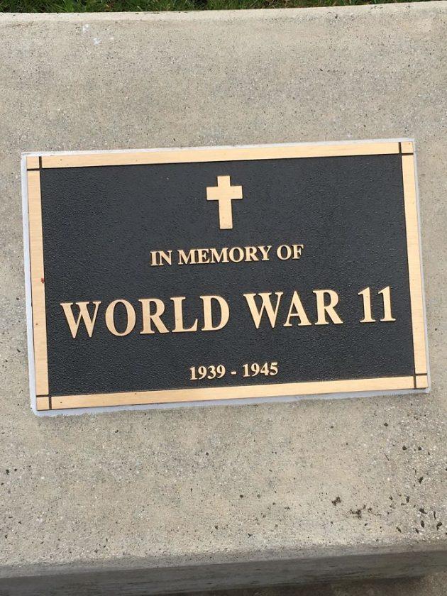 доска памяти Второй мировой войны