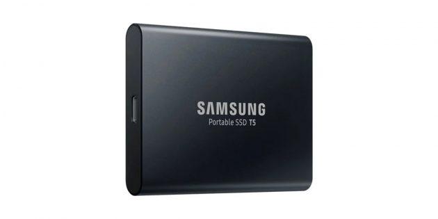 Подарки на 23Февраля: накопитель Samsung T5SSD 1TB