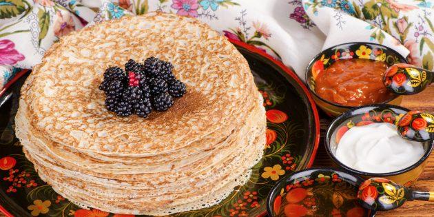Рецепты блинов на Масленицу: ажурные на кефире