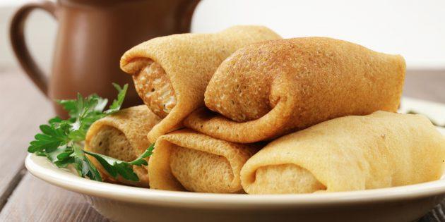 Рецепты блинов на масленицу: начинка с печёночным паштетом