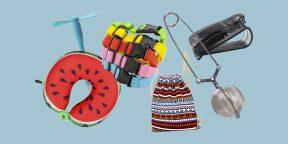 Дорожная подушка в виде фруктов, универсальный зарядник, модные серьги и другие полезные мелочи с AliExpress