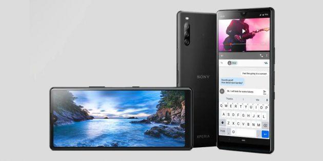 Sony представила свой первый смартфон с каплевидным вырезом в экране