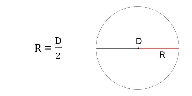 Как найти радиус окружности через диаметр