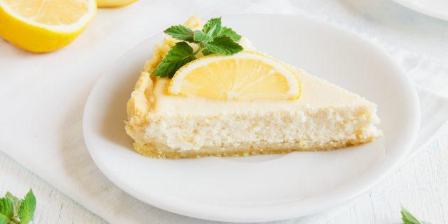Творожный пирог с ванилью: простой рецепт