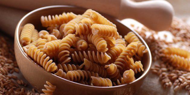 Полезные продукты: цельнозерновые макароны