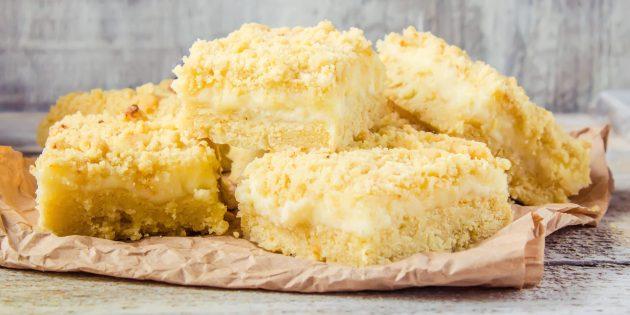 Тёртый пирог с творогом: простой рецепт