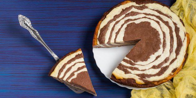 Как приготовить творожный пирог «Зебра»
