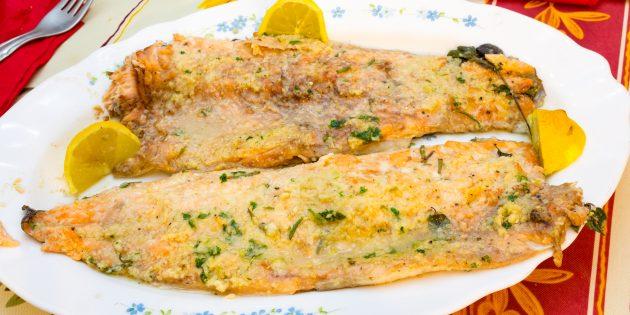 Как приготовить форель в духовке с сыром: простой рецепт