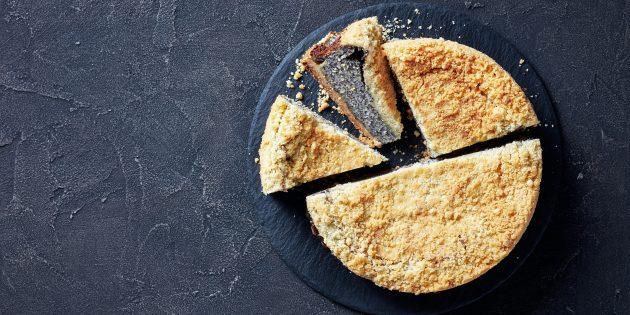 Как приготовить пирог из творога с маком