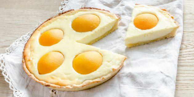 Пирог с творогом и персиками: простой рецепт