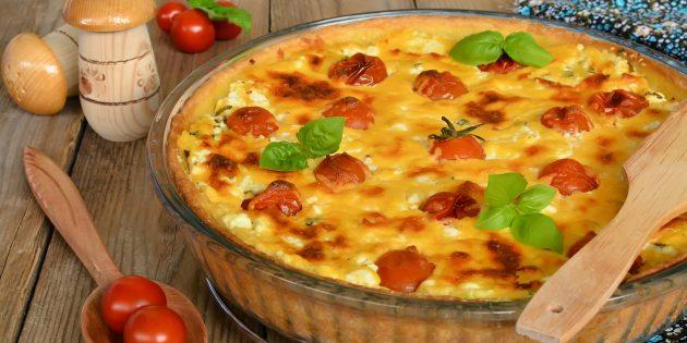 Пирог с творогом и помидорами: простой рецепт