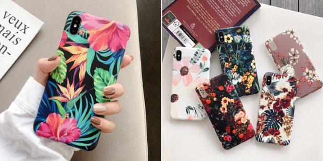 Чехол для iPhone с цветами