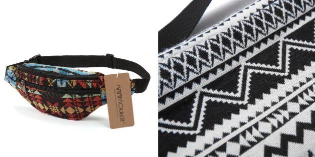 Поясная сумка с вышивкой