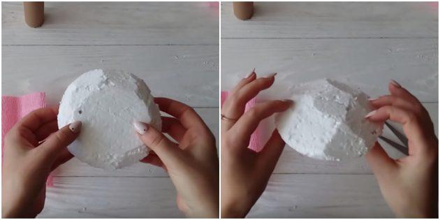 Сделайте фигуру из пенопласта