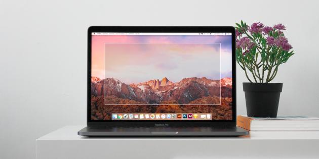 Как сделать скриншот выбранной области на Mac